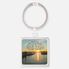 ISAIAH 40:31 Square Keychain