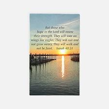ISAIAH 40:31 3'x5' Area Rug