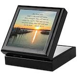 Bible quote Square Keepsake Boxes