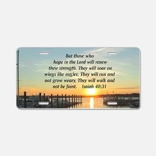 ISAIAH 40:31 Aluminum License Plate