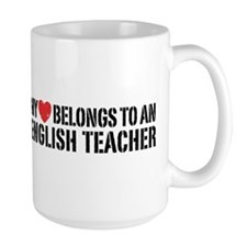 My Heart English Teacher Mug