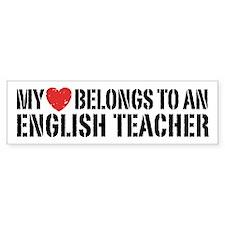 My Heart English Teacher Car Sticker