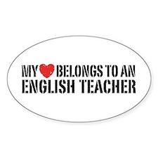 My Heart English Teacher Decal
