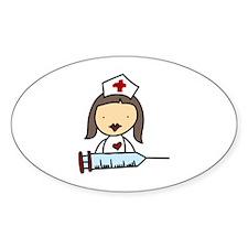 Nurse With Syringe Decal