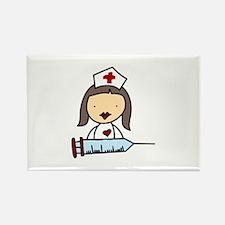 Nurse With Syringe Magnets