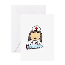 Nurse With Syringe Greeting Cards