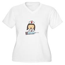 Nurse With Syringe Plus Size T-Shirt