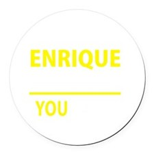 Cute Enrique Round Car Magnet
