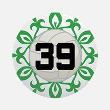 Volleyball Player Number 39 Ornament (Round)