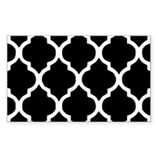 Quatrefoil Black and White Decal