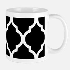 Quatrefoil Black and White Mug