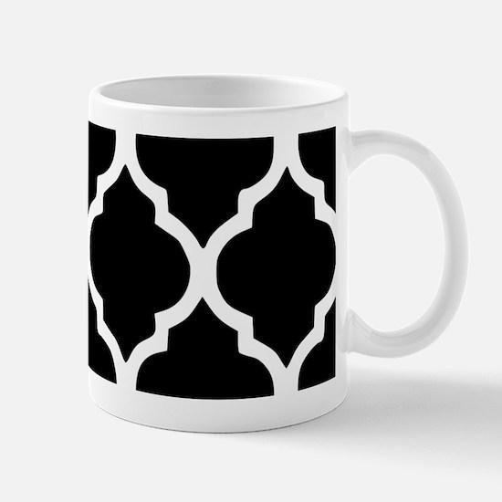 Quatrefoil Black and White Mug