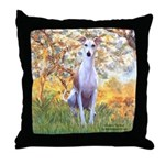 Spring / Whippet Throw Pillow