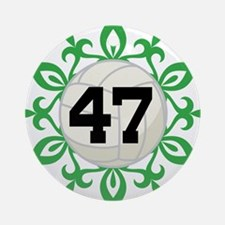 Volleyball Player Number 47 Ornament (Round)