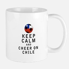Keep Calm and Cheer On Chile Mugs