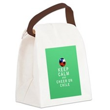 Keep Calm and Cheer On Chile Full Canvas Lunch Bag
