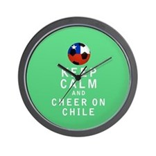 Keep Calm and Cheer On Chile Full Wall Clock
