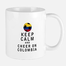 Keep Calm and Cheer On Colombia Mugs
