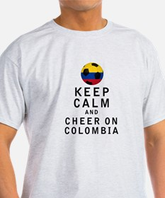 Keep Calm and Cheer On Colombia T-Shirt