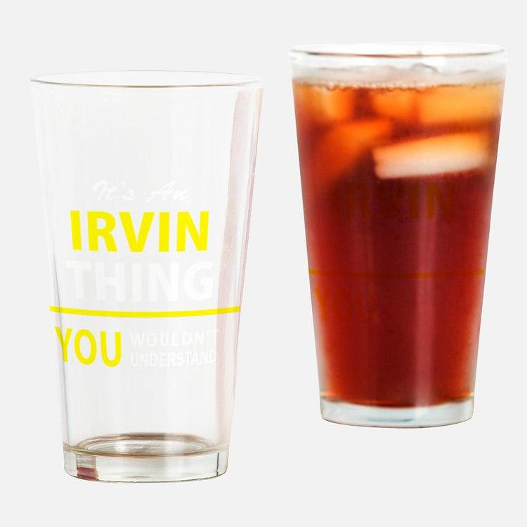 Cute Irvin Drinking Glass