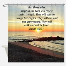ISAIAH 40:31 Shower Curtain