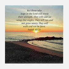 ISAIAH 40:31 Tile Coaster