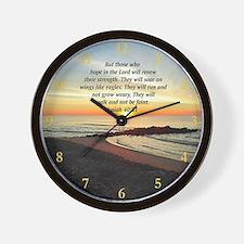 ISAIAH 40:31 Wall Clock