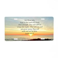ISAIAH 40:31 Aluminum License Plate
