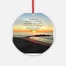 ISAIAH 40:31 Ornament (Round)