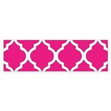 Quatrefoil Hot Pink Bumper Sticker