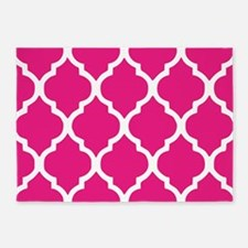 Quatrefoil Hot Pink 5'x7'Area Rug