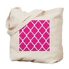 Quatrefoil Hot Pink Tote Bag