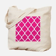 Quatrefoil Hot Pink Tote Bag
