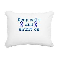 Keep Calm and shunt on Rectangular Canvas Pillow