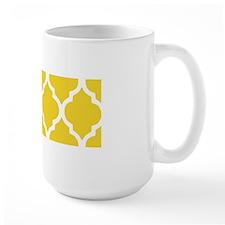 Yellow and White Chic Moroccan Lattice Mug