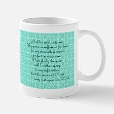 2 Corinthians 12:9 mint Mug