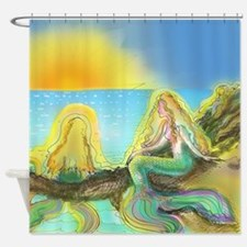 Colorful Mermaids Shower Curtain
