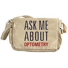 Optometry - Ask Me About - Messenger Bag