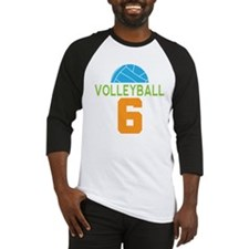 Volleyball player number 6 Baseball Jersey