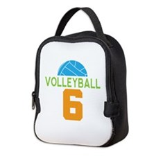 Volleyball player number 6 Neoprene Lunch Bag