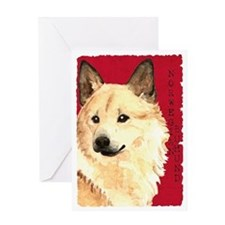 Norwegian Buhund Greeting Card