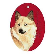 Norwegian Buhund Ornament (Oval)