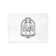 Gautama Buddha Lines 5'x7'Area Rug