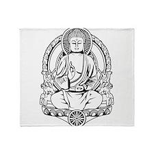 Gautama Buddha Lines Throw Blanket