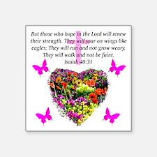 "ISAIAH 40:31 Square Sticker 3"" x 3"""