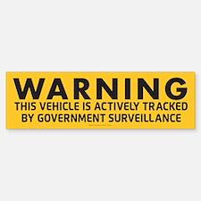 Surveillance Warning Bumper Car Car Sticker