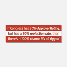 Congress Is Rigged Car Magnet 10 x 3