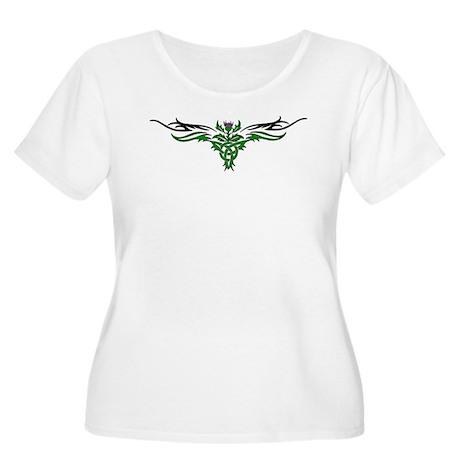 Tribal Thistle Women's Plus Size Scoop Neck T-Shir