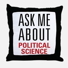 Political Science Throw Pillow