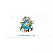 MyWorldDiscovery.com Aluminum License Plate